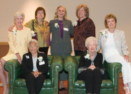 June 21, 2006 Founders; standing Dorothy Reynolds, Nodine Miller, Sue Foley; seated, Mary Lazarus, Phyllis Greene, Harriet Bracken, Lou Briggs3.jpg